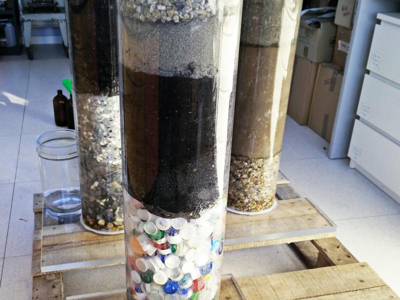 Biofiltri test di laboratorio